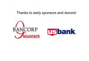 THANKS to early Sponsors and Donors